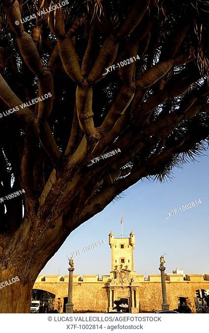 Old City Gate, Puerta De Tierra Cádiz, Andalusia, Spain