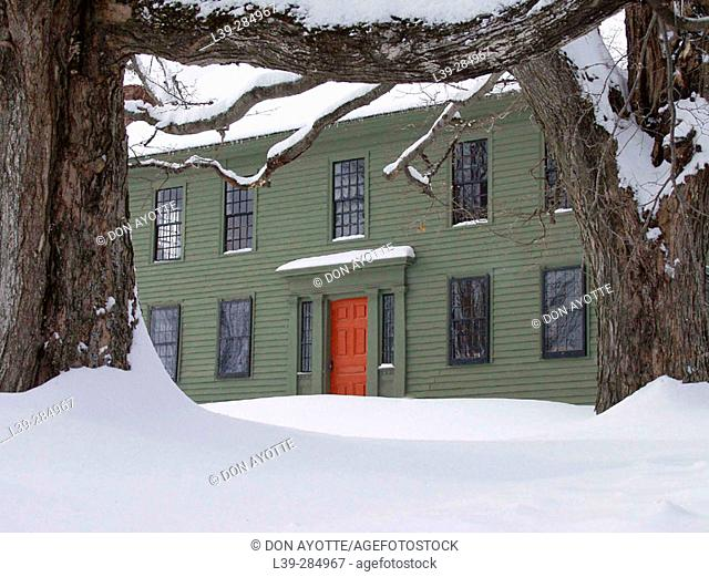 Colonial house in Buckland. Massachusetts, USA