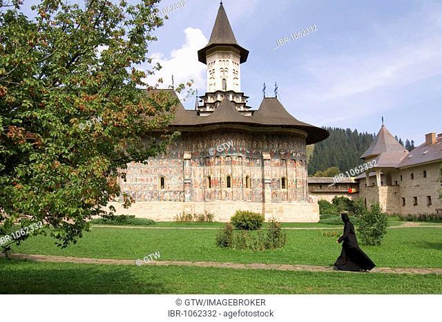 Monastery of Sucevita, UNESCO World Heritage Site, Southern Bukovina, Moldova, Romania, Europe