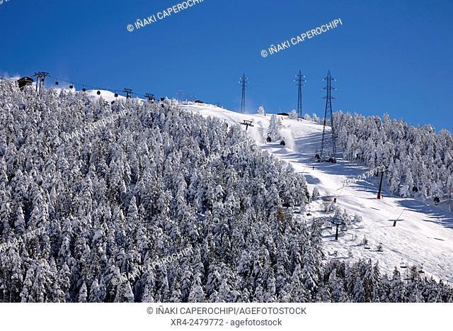 Ski resort, Baqueira-Beret, Aran Valley, Pyrenees, Spain