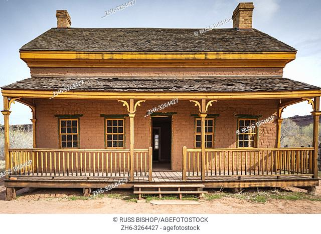 "Alonzo Russell adobe house (featured in the film """"Butch Cassidy and the Sundance Kid""""), Grafton ghost town, Utah USA"