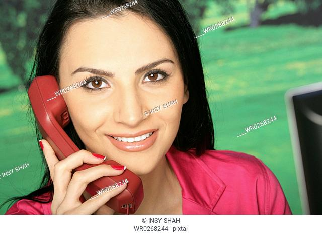 Lady on the phone