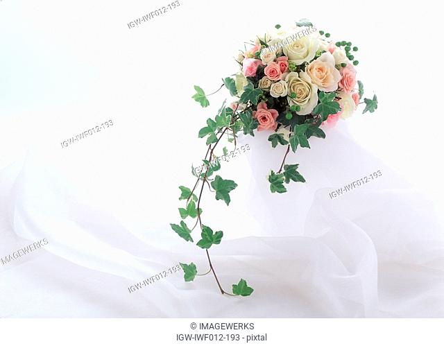 View of a bouquet of flowers