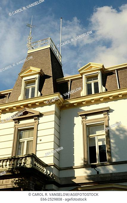 House near the Maas River in Maastricht, with a widow's walk. A widow's walk is frequently found on coastal houses. The name is said to come from the wives of...