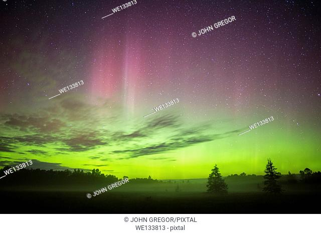 Northern Lights Over Meadow, Wisconsin