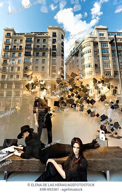 Mannequins at Zara store in Gran Via  Madrid  Spain