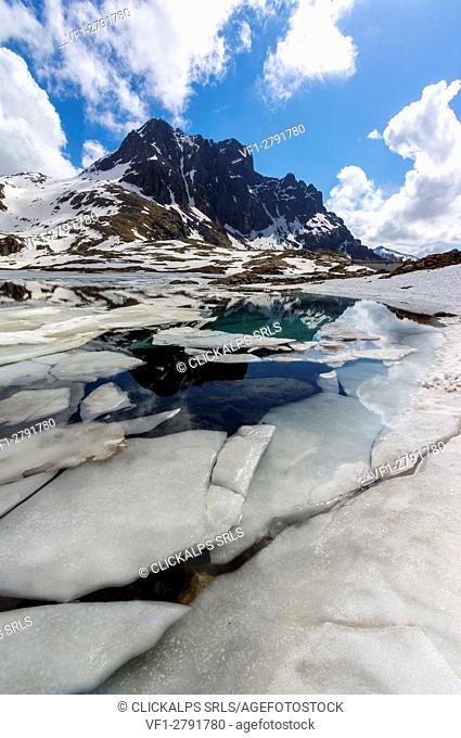 The Thaw, Lago della Vacca, Adamello Park province of Brescia Italy