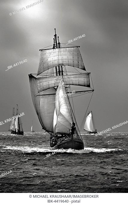 Sailing ship, Windjammer, North Sea, Germany