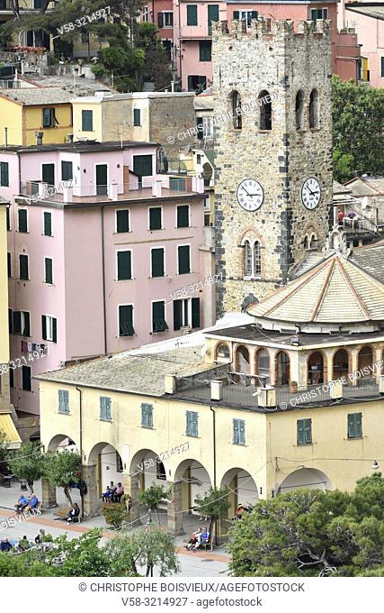 Italy, Liguria, Cinque Terre National Park, World Heritage Site, Monterosso al Mare, Church of San Giovanni Battista (St John the Baptist)