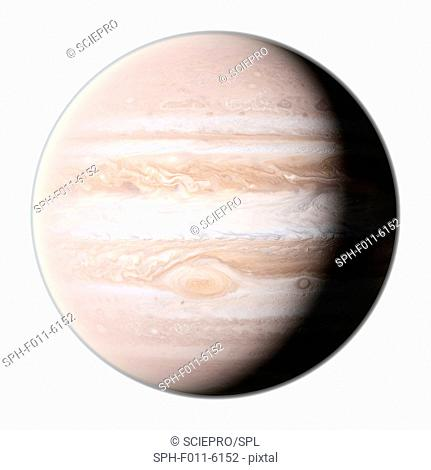 Planet jupiter, computer illustration
