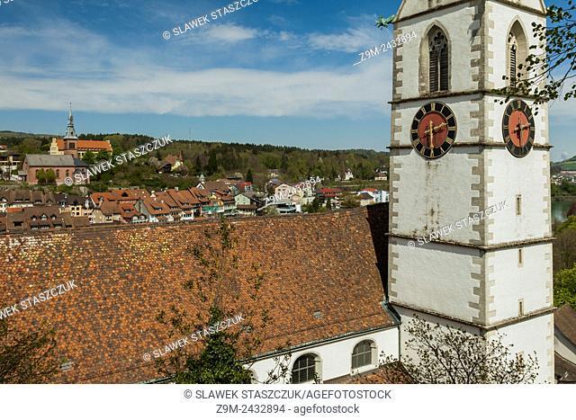 Parish church in Laufenburg on Rhine, canton of Aargau, Switzerland