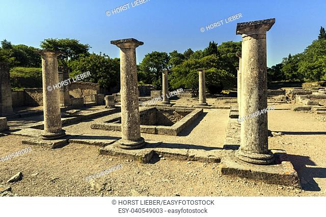 The house of the Anten in ancient Glanum. Saint Remy de Provence, Bouches du Rhone, Provence, France
