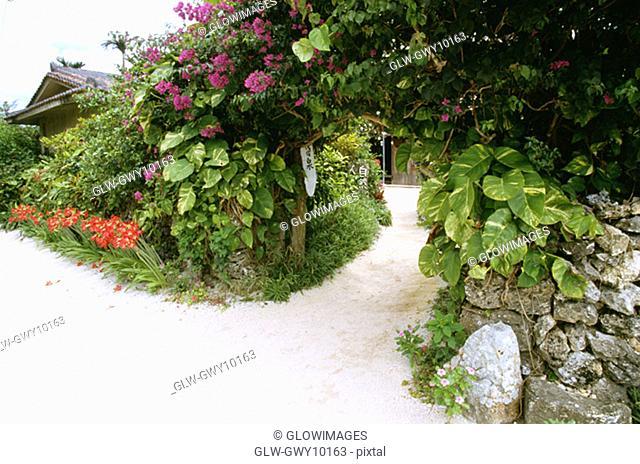 Entrance to a village, Taketomi, Okinawa, Japan
