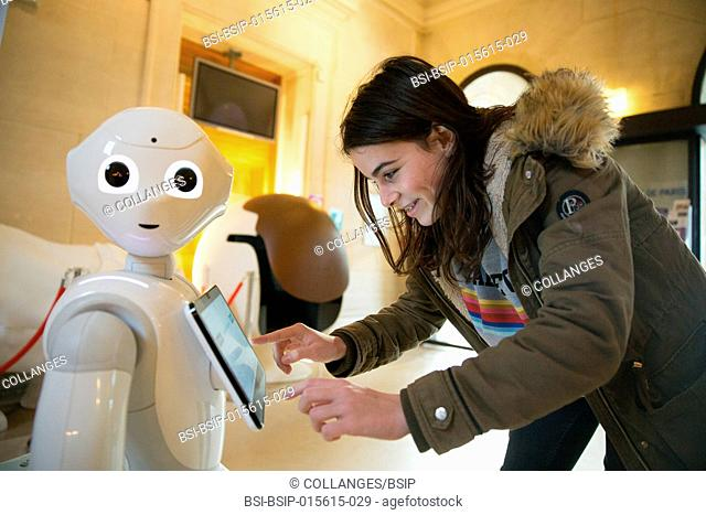 Pepper, a welcome robot at Paris' 15th arrondissement city hall