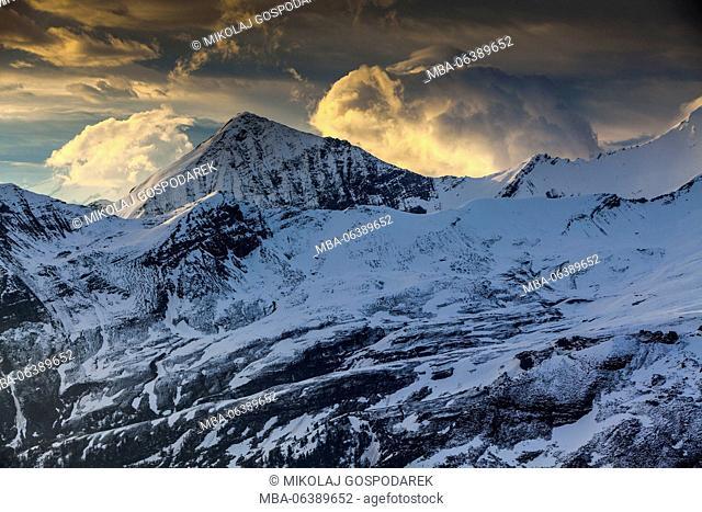 snow,snow alps,grossglockner snow,snow high alpine road,Edelweissspitze,Grossglockner High Alpine Road,road,sunrise,mountain road,austria grossglockner