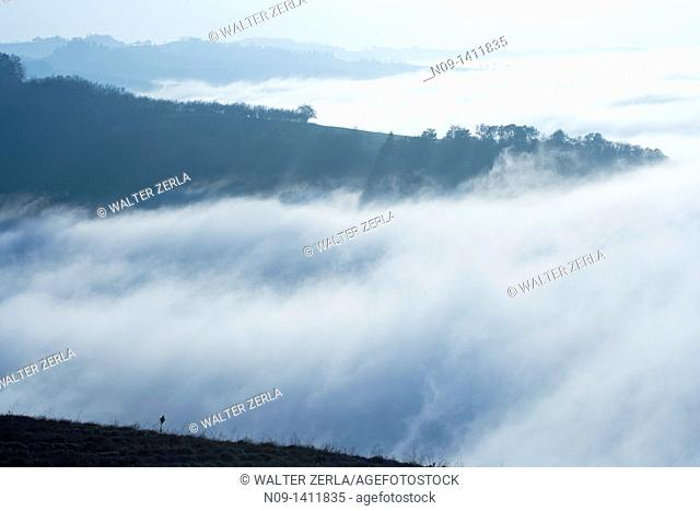 Low clouds over the mountain