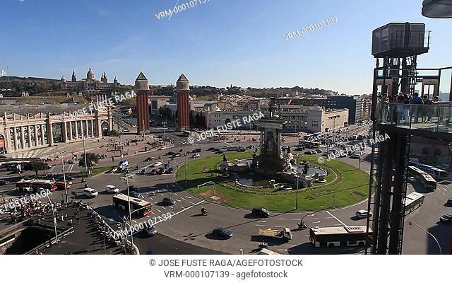 Spain, Barcelona City, España Square, Venetian Towers,Montjuich hill, National Museum