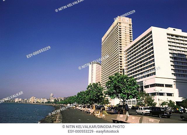 Nariman Point , Oberoi hotel , old & new , Bombay Mumbai , Maharashtra , India
