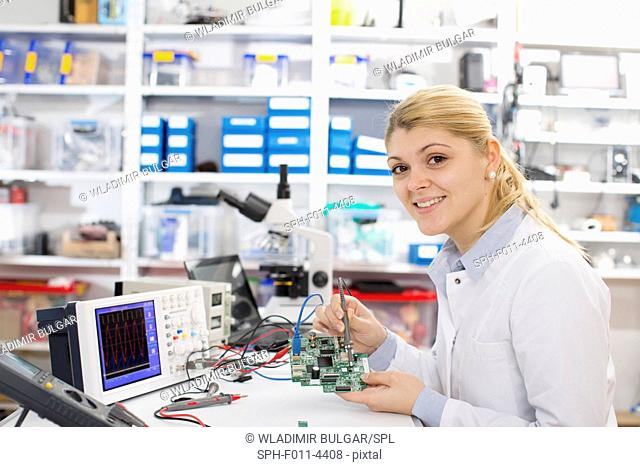Laboratory assistant using a circuit board