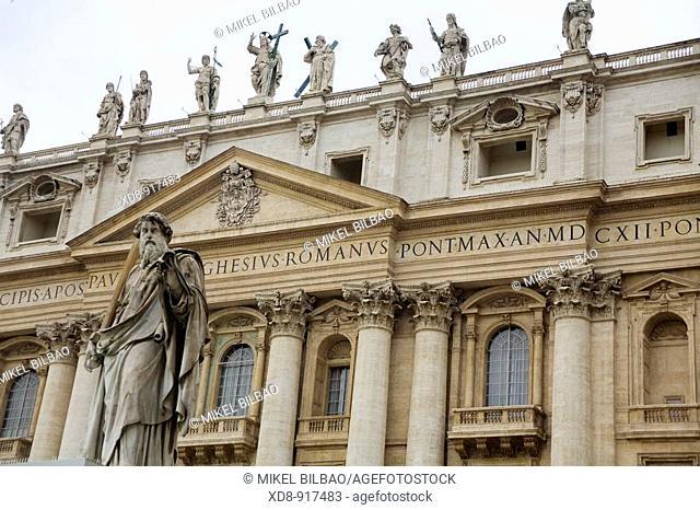 Papal Basilica of Saint Peter , or St  Peter's Basilica, Vatican City