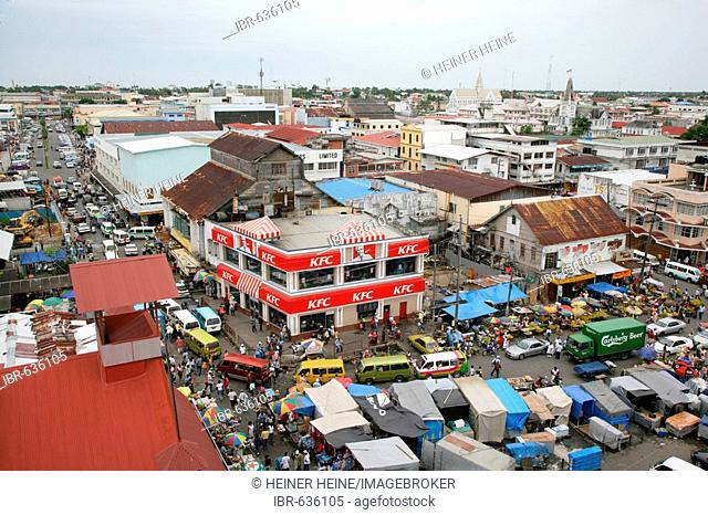 View of the central marketplace in Georgetown, Guyana, South America