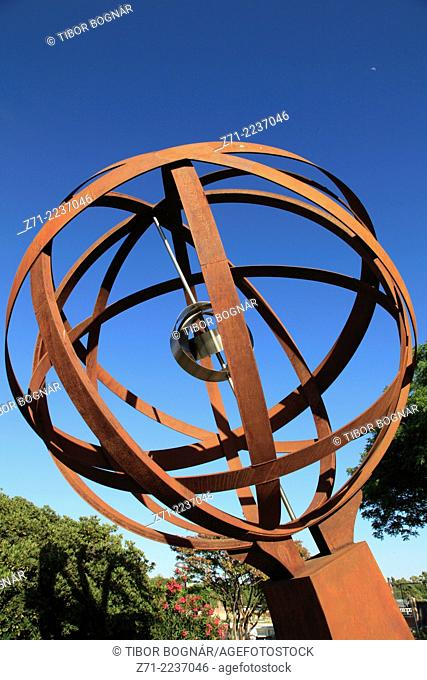 Spain, Andalusia, Seville, armillary sphere, sculpture, monument,