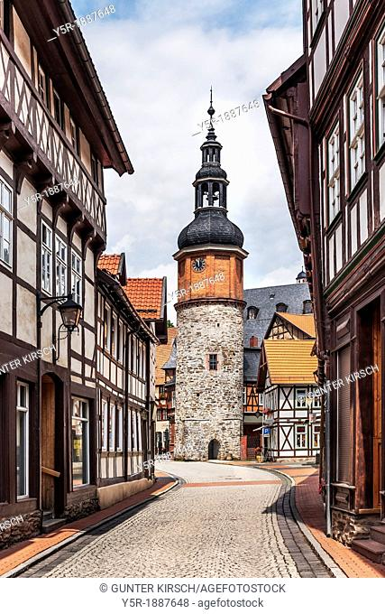 Seigerturm, the tower was part of the city wall from the 13th Century, Stolberg / Harz, municipality Suedharz, Mansfeld-Suedharz, Saxony-Anhalt, Germany, Europe