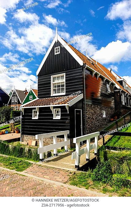 Traditional architecture of Marken, Holland, Europe