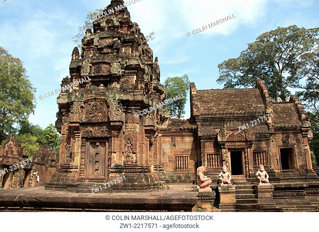 Banteay Srei temple in Angkor in Cambodia