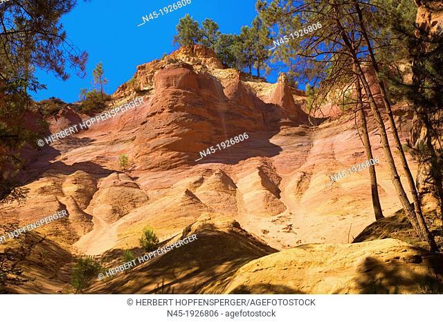 Ockre Rocks; Ocher Quarry; Colorado; Roussillon; Provence; France