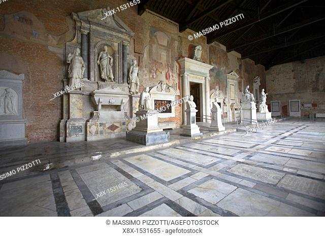 Tombs in the monumental cemetery, Pisa, Italy