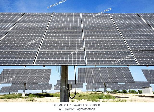 Solar panels in Arbeca (Lleida). Catalonia. Spain