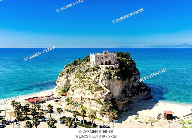 Italy, Calabria, Tropea, pilgrimage church Santa Maria dell'Isola