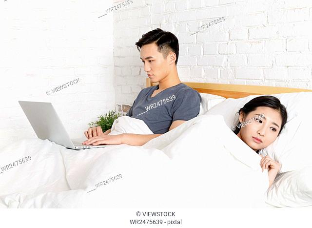 Relationship tension young couple