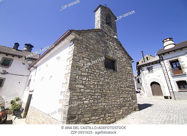 Borau village in Huesca Aragon Spain The chapel