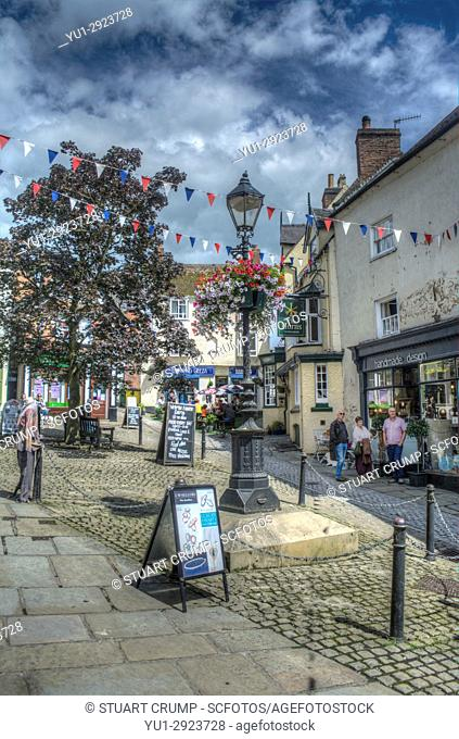 HDR image of Victoria Square in Ashbourne Derbyshire