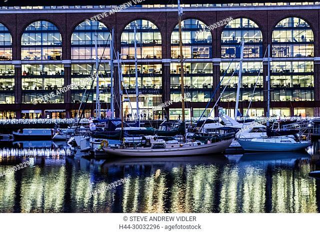 England, London, Tower Hamlets, St.Katharine Dock, Commodity Quay Office Building