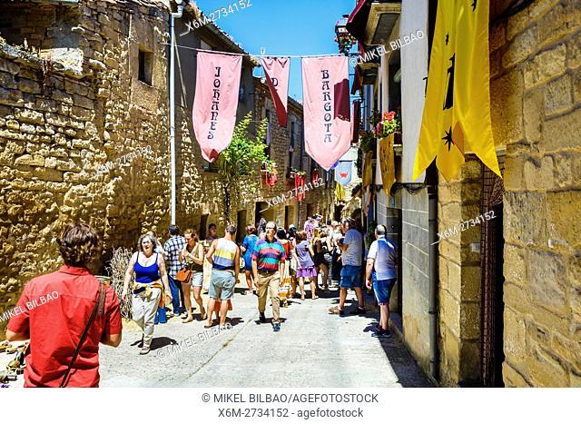 Street view. Witchery Week 2016. Bargota, Navarre, Spain, Europe