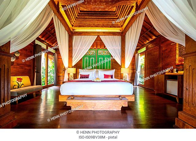 Guest room in resort, Ubud, Bali, Indonesia