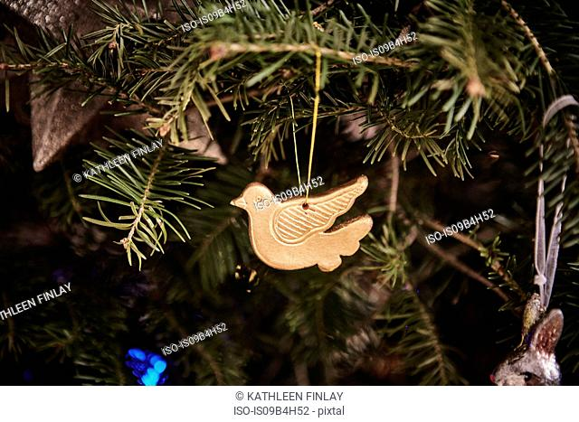 Christmas decoration, hanging on Christmas tree, close-up