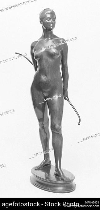 Diana. Artist: Karl Theodore Bitter (American (born Austria), Vienna 1867-1915 New York); Date: 1910; Medium: Bronze; Dimensions: 19 3/4 x 5 3/4 x 9 in