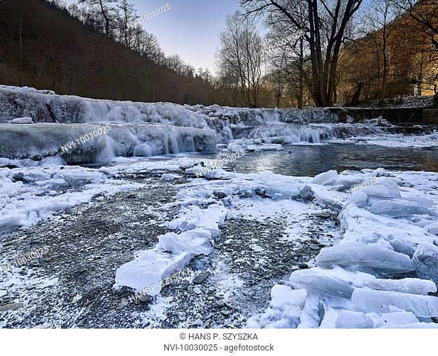 Schwarza river near Bad Blankenburg, Thuringia, Germany
