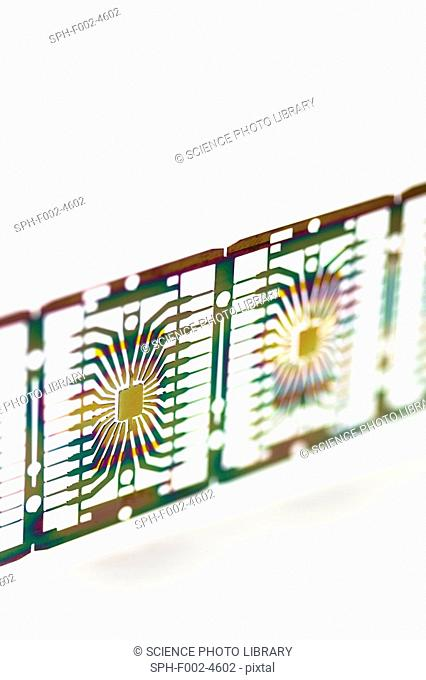 Microprocessor chips, artwork