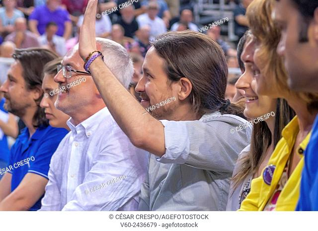 -Meeting of Pablo Iglesias, Leader of Podemos Party- Alicante May 2015 (Spain)