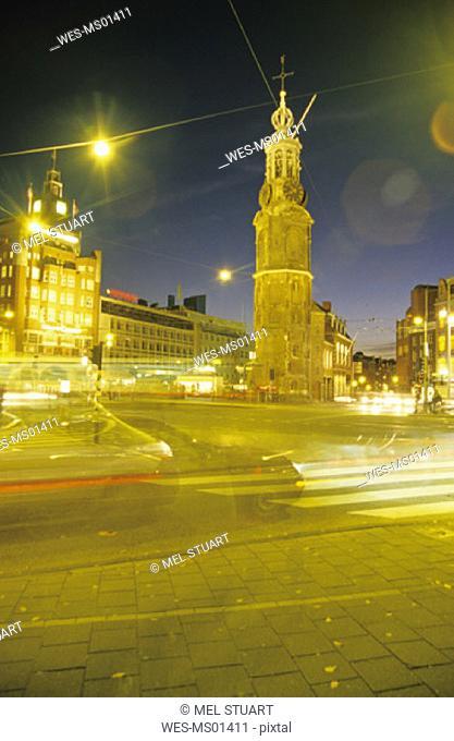 Munttoren, Muntplein, Amsterdam, Holland