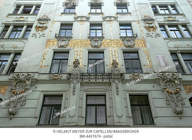 Art Nouveau façade, 1898, meat market, Vienna, Austria