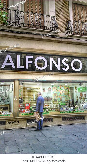 Coso Street, Jose Alfonso former hardware shop, Saragossa, Aragon, Spain