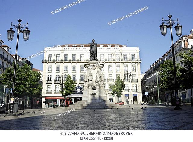 Praca Luis de Camoes square, Chiado, Lisbon, Portugal, Europe