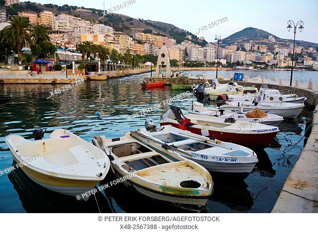 Limani, Marina, harbour for small boats, Saranda, Albania