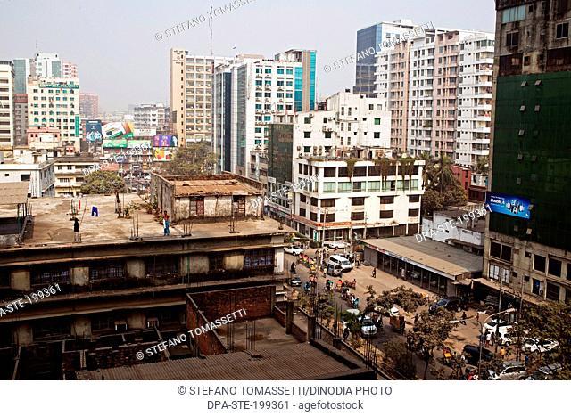 skyline and building, dhaka, bangladesh